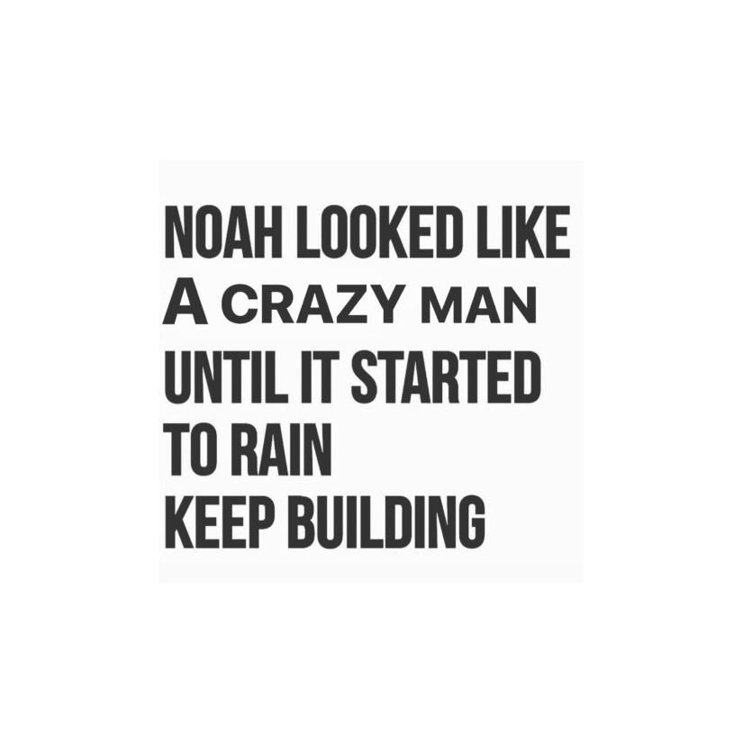 KEEP BUILDING!